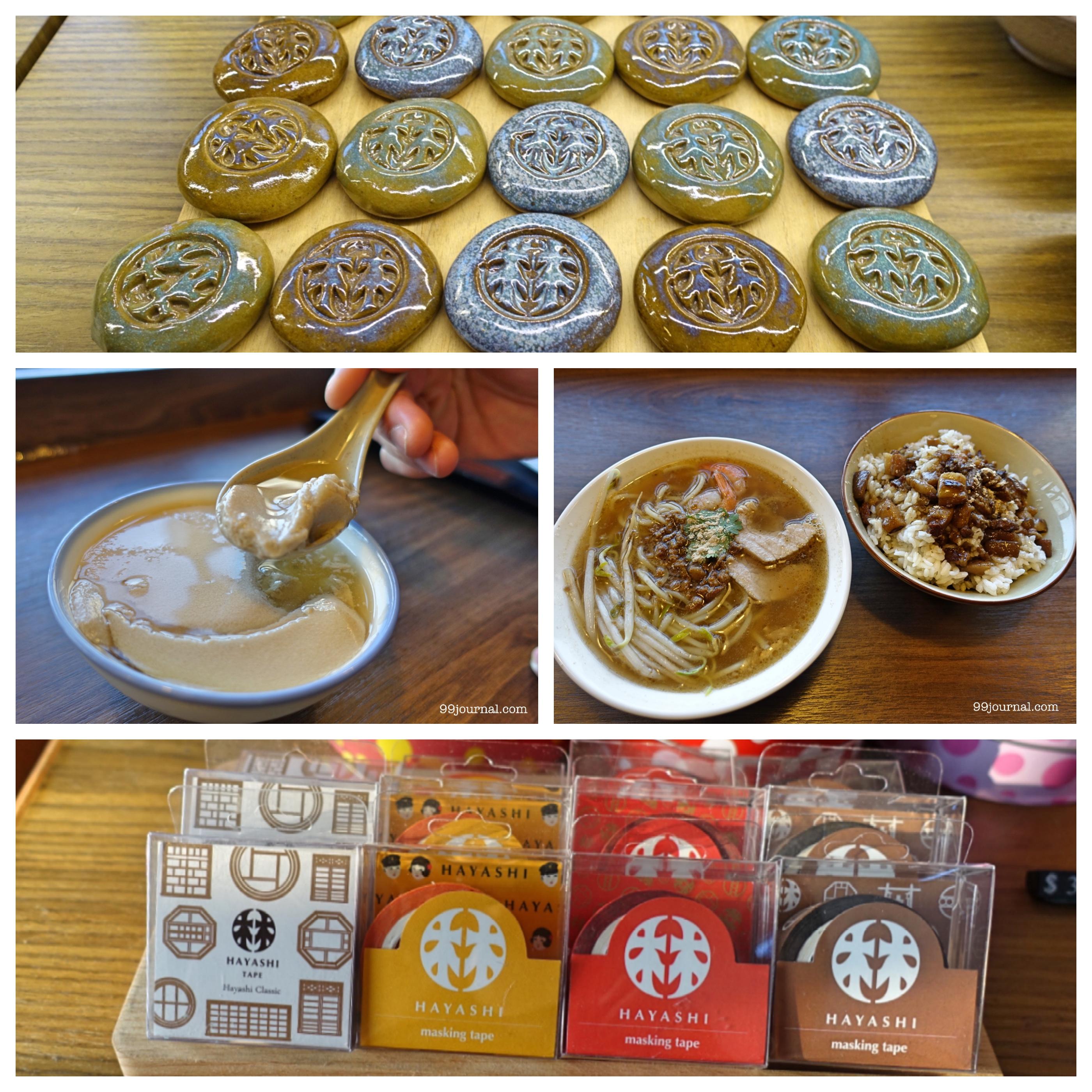 台南のおすすめ観光スポット林百貨のお土産やレストランの食事写真